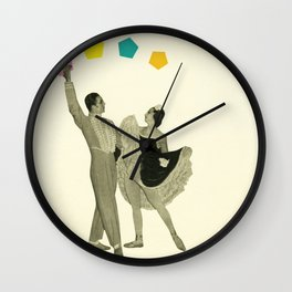 Throwing Shapes on the Dance Floor Wall Clock