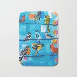 Bird Celebration Bath Mat