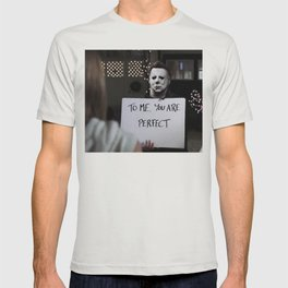 Michael Myers in Love Actually T-shirt