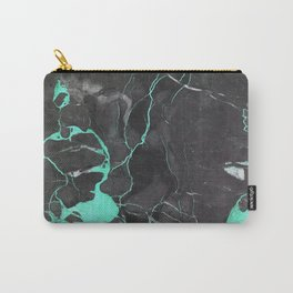 Grey and Blue Marble Carry-All Pouch