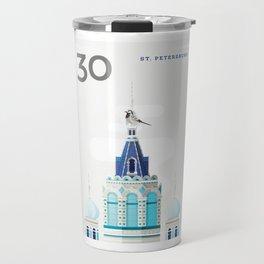Stamp : Cities #4 - St. Petersburg Travel Mug