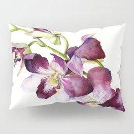 Radiant Orchids: Magenta Dendrobiums (Flipped Orientation) Pillow Sham