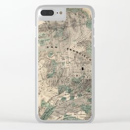 Map of San Francisco 1869 Clear iPhone Case
