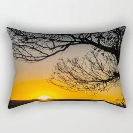 Sunrise Under the Wedge Tree Rectangular Pillow