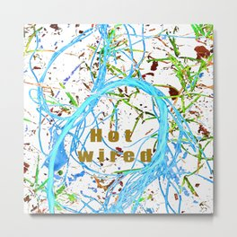 Hot wired sky blue Metal Print