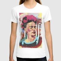 frida T-shirts featuring Frida by Juan Alonzo