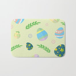 Easter eggs pattern Bath Mat