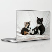 kittens Laptop & iPad Skins featuring Two Kittens by Kathy Spall (kfsoriginals)