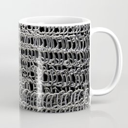 Silver Chain Maille Coffee Mug