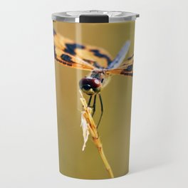 Orange and black dragonfly Travel Mug