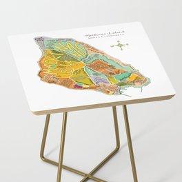 Mackinac Island Illustrated Map Side Table