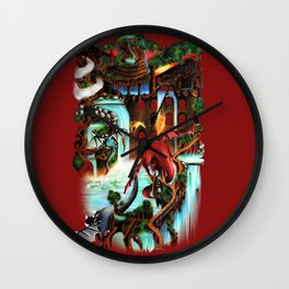 City of Dragons Wall Clock