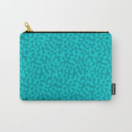 Abstract retro summer teal groovy pattern Carry-All Pouch