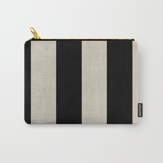 vintage black stripes Carry-All Pouch