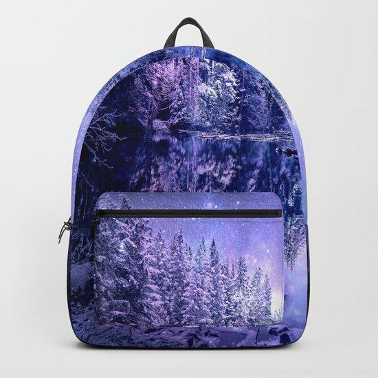Lavender Winter Wonderland : A Cold Winter's Night Backpack