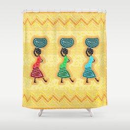African mosaic Shower Curtain