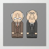 blair waldorf Canvas Prints featuring Statler & Waldorf – The Muppets by Big Purple Glasses