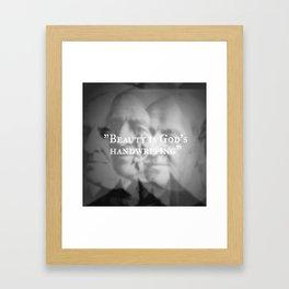 Ralph Waldo Emerson: Beauty is God's Handwriting Framed Art Print