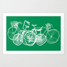 3bikes Art Print