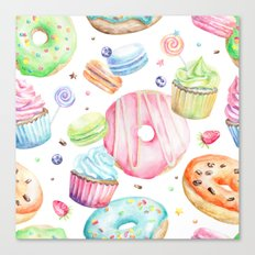 Sweets Pattern Canvas Print