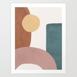 Abstract Earth 1.1 - Painted Shapes Art Print