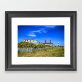 Dungeness Lighthouse Quarters Framed Art Print