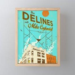 THE DELINES w/ Mike Coykendall - Feb 16th, 2019 @ The Secret Society - Portland, Oregon Framed Mini Art Print