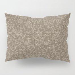 Predatory Flowers Beige Pillow Sham