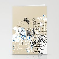 letter Stationery Cards featuring Letter by Irmak Akcadogan