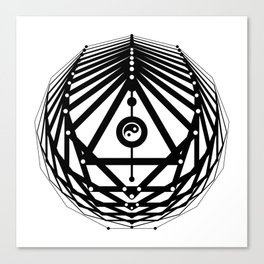 Radiant Abundance (white-black) Canvas Print