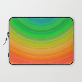 Rainbow Smile Colored Circles Summer Pattern Laptop Sleeve