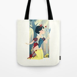 Snow White Pin Up Tote Bag
