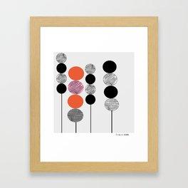 Prick röd Framed Art Print