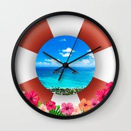 Lanikai Beach - Hawaii Getaway Wall Clock