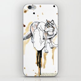 The Girl And The Wolf iPhone Skin