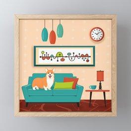 A Corgi Makes A House A Home Framed Mini Art Print