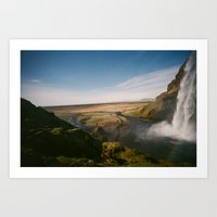 iceland Art Prints featuring Iceland by Tara Holland
