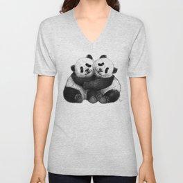 Panda's Hugs G143 Unisex V-Neck