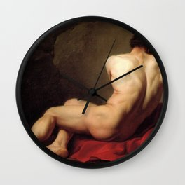 Patroclus by Jacques-Louis David Wall Clock