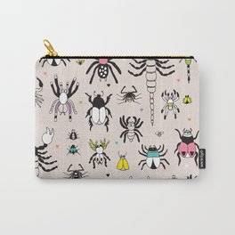 Creepy scorpion spiders and insect illustration quirky bugs creature pattern Carry-All Pouch