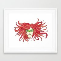 sister Framed Art Prints featuring Sister by aHattfull