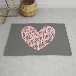 Jane Austen Emma Tenderness Heart Rug