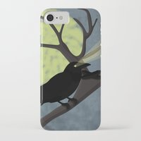 crow iPhone & iPod Cases featuring Crow by Nir P
