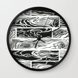 Hard Wood Wall Clock