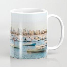 Melbourne Skyline at Sunset Coffee Mug