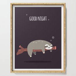 Sloth card - good night Serving Tray