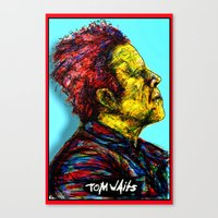 tom waits Canvas Prints featuring Tom Waits by Alec Goss