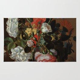 "Jacob Marrel ""Flowers in a glass vase"" Rug"