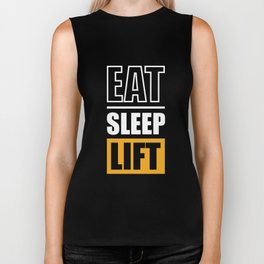 Lab No. 4 - Eat Sleep Lift Gym Inspirational Quote Poster Biker Tank