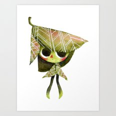 Leaf Girl Art Print